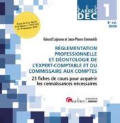 DEC 1 ; réglementation professionnelle et déontologie de l'expert-comptable et du commissaire aux comptes (édition 2020) - Couverture - Format classique