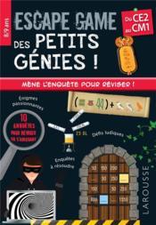 Escape game des petits génies ; CE2, CM1 - Couverture - Format classique