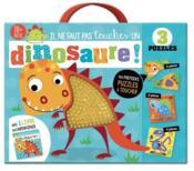 Il ne faut pas toucher un dinosaure ; coffret puzzle - Couverture - Format classique