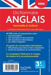 Dictionnaire Hachette & Oxford mini ; français-anglais / anglais-français - 4ème de couverture - Format classique