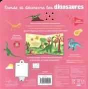 Écoute et découvre les dinosaures - 4ème de couverture - Format classique
