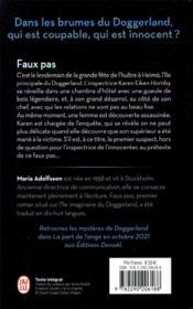 Doggerland - t01 - faux pas - doggerland - 4ème de couverture - Format classique