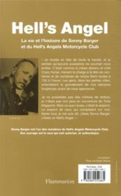 Hell's Angel : la vie et l'histoire de Sonny Barger et du Hell's Angels Motorcycle Club - 4ème de couverture - Format classique