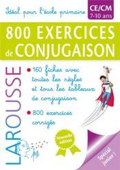 800 exercices de conjugaison - Couverture - Format classique