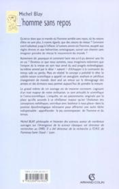 L'homme sans repos - du mouvement de la terre a l'esthetique metaphysique de la vitesse (xviie- xxe - Couverture - Format classique