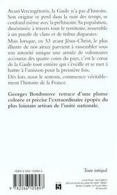 Vercingetorix - 4ème de couverture - Format classique