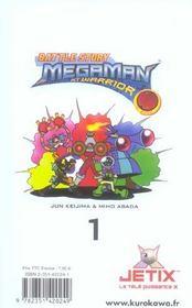 Megaman nt warrior t.1 - 4ème de couverture - Format classique