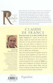 Claude de France ; première epouse de François 1er, mère de Henri II - 4ème de couverture - Format classique
