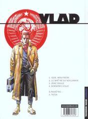 Vlad t.4 ; derniere issue - 4ème de couverture - Format classique