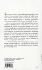 Ivanhoé - 4ème de couverture - Format classique