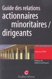 Guide des relations actionnaires minoritaires - Intérieur - Format classique
