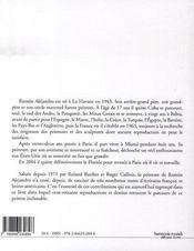 Ramon alejandro - 4ème de couverture - Format classique