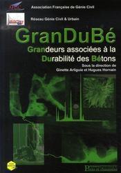 Grandubé ; grandeurs associeés à la durabilité des bétons - Intérieur - Format classique