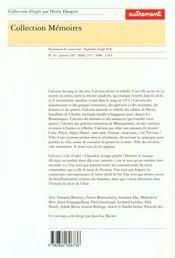 Aut.memoires 46 calcutta 1905-1975 - 4ème de couverture - Format classique