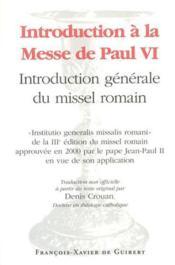 Introduction a la messe de paul vi - Couverture - Format classique