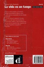 La vida es un tango - 4ème de couverture - Format classique