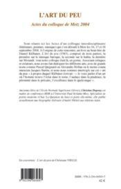 L'art du peu ; actes du colloque de Metz 2004 - Couverture - Format classique