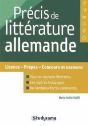 Précis de littérature allemande - Couverture - Format classique