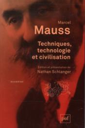 Techniques, technologie et civilisation - Couverture - Format classique