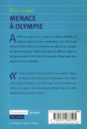Menace à Olympie - 4ème de couverture - Format classique