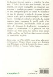 Tombeau pour Don Juan - 4ème de couverture - Format classique