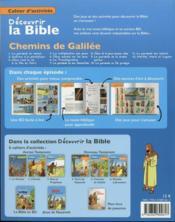 Cahiers d'activités ; découvrir la Bible en BD ; Ancien Testament ; chemins de Galilée t.5 - 4ème de couverture - Format classique