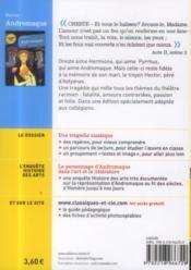 Andromaque - 4ème de couverture - Format classique