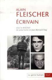 Le genre humain N.54 ; Alain Fleischer écrivain - Couverture - Format classique