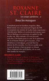Les anges gardiens t.2 ; sous les masques - 4ème de couverture - Format classique