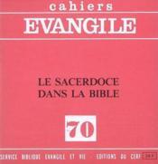 Le Sacerdoce Dans La Bible (J. Auneau), No 70 - Couverture - Format classique