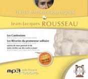 Textes autobiographiques ; Jean-Jacques Rousseau - Couverture - Format classique
