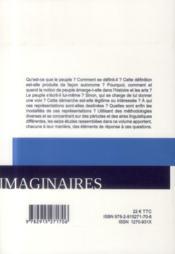 Imaginaires, n 17/2013. la representation du peuple - 2 - 4ème de couverture - Format classique