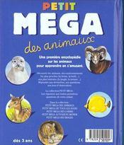 Petit Mega Des Animaux - 4ème de couverture - Format classique
