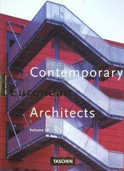 Contemporary european architects t.4 - Intérieur - Format classique
