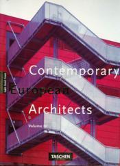 Contemporary european architects t.4 - Couverture - Format classique