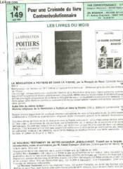 Pour Une Croisade Du Livre Contrerevolutionnaire - N°149 - Couverture - Format classique