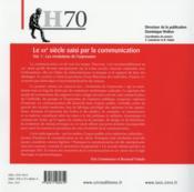 Hermes N.70 ; Le Xxe Siècle De La Communication - 4ème de couverture - Format classique