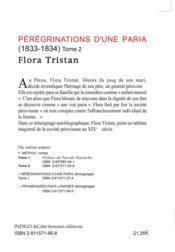 Pérégrinations d'une paria t.2 (1833-1834) - 4ème de couverture - Format classique