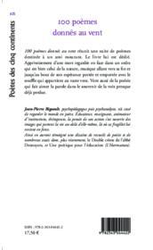 100 poèmes donnés au vent ; suite de poèmes - Couverture - Format classique
