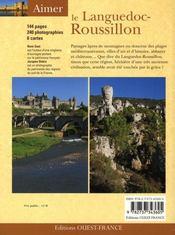 Le Languedoc-Roussillon - 4ème de couverture - Format classique