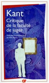 Critique de la faculté de juger - Couverture - Format classique
