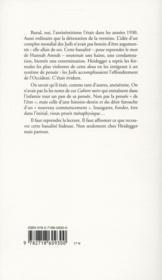 Banalité de Heidegger - 4ème de couverture - Format classique
