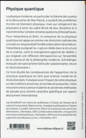 Physique quantique. origines, interpretations et critiques - 4ème de couverture - Format classique
