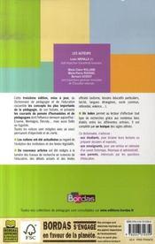 Dictionnaire de pédagogie et de l'éducation (3e édition) - 4ème de couverture - Format classique