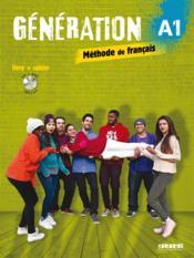 GENERATION ; niveau A1 ; livre + cahier + CD MP3 + DVD - Couverture - Format classique