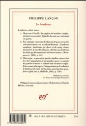 Le lambeau - 4ème de couverture - Format classique