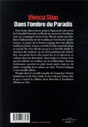 Dans l'ombre du paradis - 4ème de couverture - Format classique