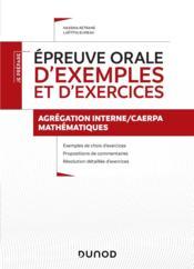 Je prépare ; épreuve orale d'exemples et d'exercices ; agrégation interne/CAERPA mathématiques - Couverture - Format classique