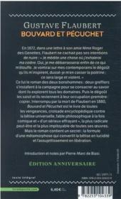 Bouvard et Pécuchet - 4ème de couverture - Format classique