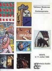 TABLEAUX MODERNES ET CONTEMPORAINS. [ KLASEN. BOUDIN. COROT. SAUDEK. BARALIS. CHARLET. TITUS-CARMEL. PREAUX. VOLLON. JACQUET ]. 11/07/1996. (Poids de 78 grammes) - Intérieur - Format classique
